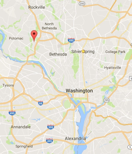 Bethesda Potomac Area Map
