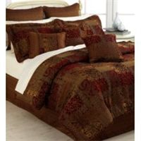 brown bedroom comforter set