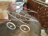 vintage baby carriage frame