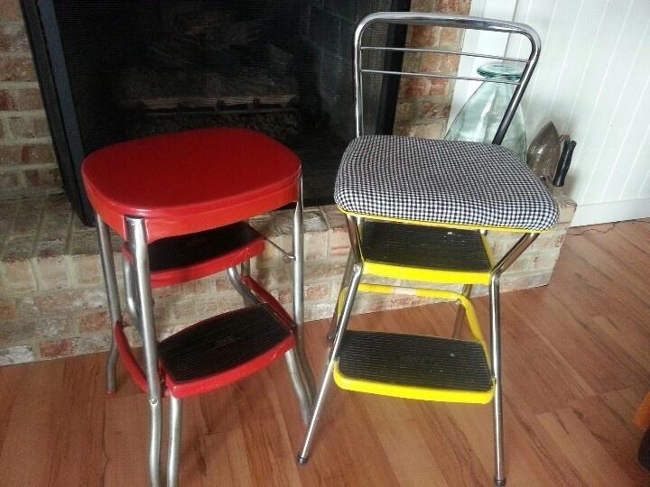 repurposed vintage stools