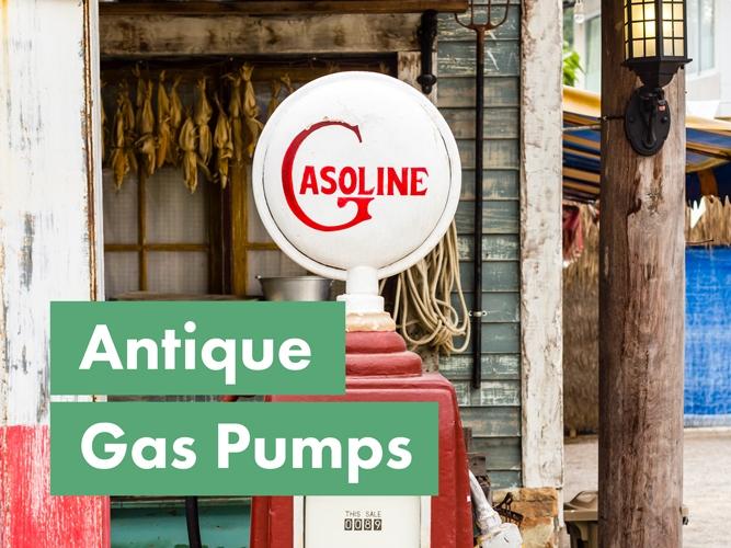 image of a vintage gas pump