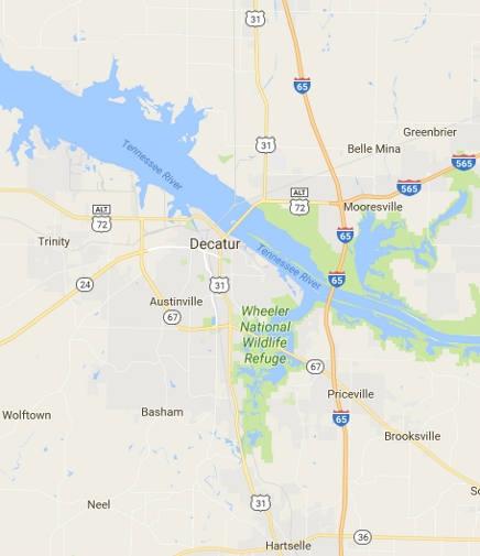 map of Decatur AL