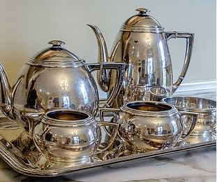 estate sale silver coffee tea pot server