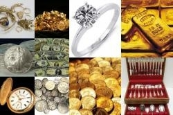 gold rings gold coins/bullion gold wristwatches gold pocket watches silver gold items etc