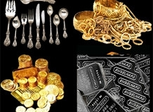 photos of sterling flatware gold coins silver and gold bullion