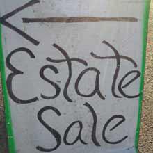 estate sale directional sign